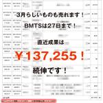 3月23日の成果報告!BMTSは27日(月)まで!